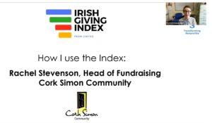 How effective is your fundraising Irish Giving Index Webinar Rachel Stevenson Cork Simon